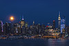 NYC Skyline Harvesst Moon