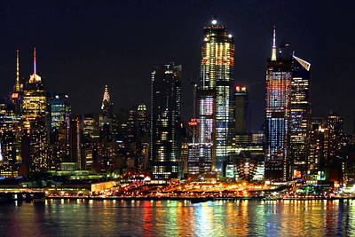 NYC NIght LIght Reflections
