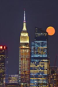 Buck Moon over Manhattan