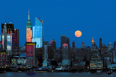 NYC Strawberry Moonrise
