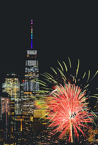 One World Trade-PRIDE Fireworks