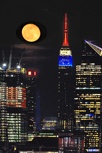 NYC April Moonrise