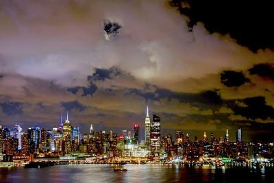 NY Skyline Night Cloudscape