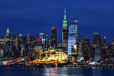 NY Skyline- St Patrick's Day Green