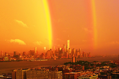 Hudson River NY-NJ Sundown Rainbow