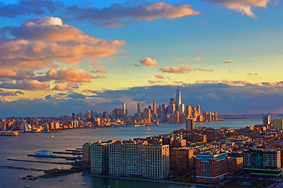 Sunset over New York  and New Jersey
