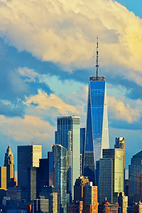 Freedom Tower and Spring Skies