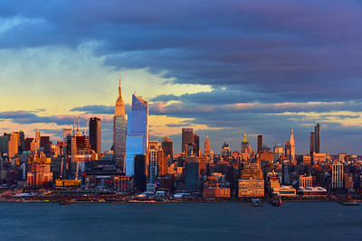 NY Skyline at Sundown