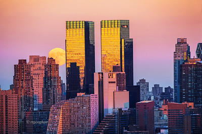NYC Moonrise at Sundown