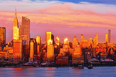 Manhattan-Hudson River Sundown