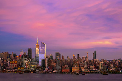 NY Skyline Sundown Color