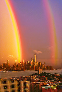 Rainbow Bookends- One World Trade NYC