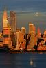 NYC Moonrise at Sundown