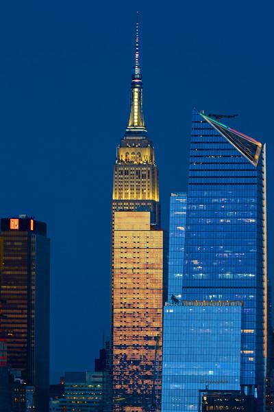 NYC Blue and Gold Sundown