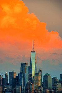 Orange Sherbert Sundown - One World Trade