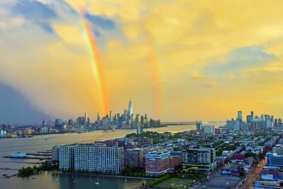 Sundown Double Rainbow NYC-NJ