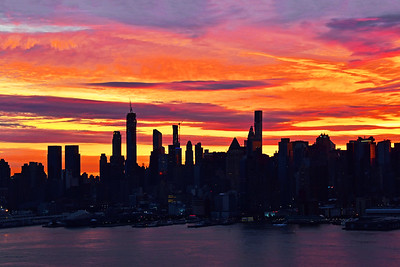 NYC Sunrise Painted Skies