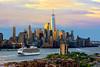 Hudson River Sunrise NY-NJ