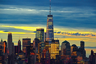 Sunrise and Lower Manhattan