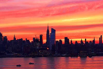 NYC Skyline-Sunrise Coral