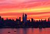 NYC Skyline-Sunrise Coral