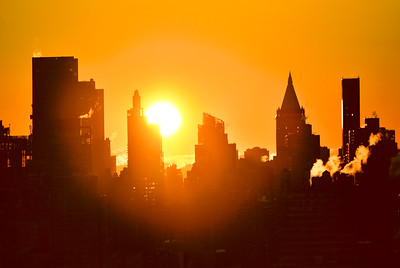 NY Silhouettes and Sunrise