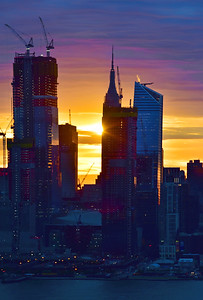 Sunrise-Empire State Building and Hudson Yards