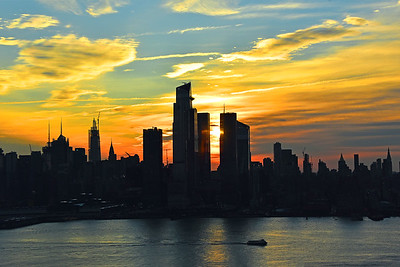 Manhattan Blue and Gold Sunrise