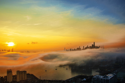 NYC-NJ Sunrise Fog Blanket