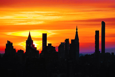 NYC Sunrise and Silhouettes