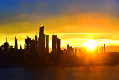 NYC Hazy Morning Sunrise