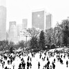 Central Park Skaters in the Snow