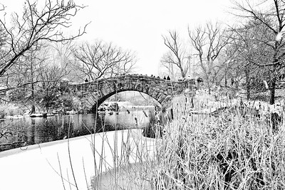 Gapstow Bridge Snow Scene