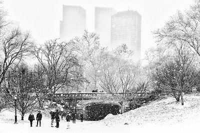Let it Snow-Driprock Arch Central Park
