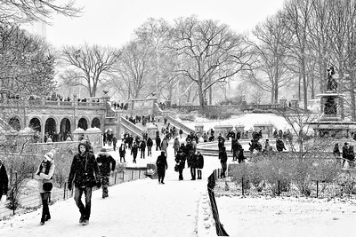 Bethesda Terrace Winter Landscape Central Park