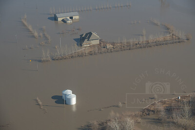 Missouri River flood waters inundate areas of Fremont County in Iowa.