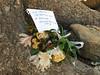 Bridal bouquet left at Moraine Lake<br /> Banff National Park, Alberta, Canada