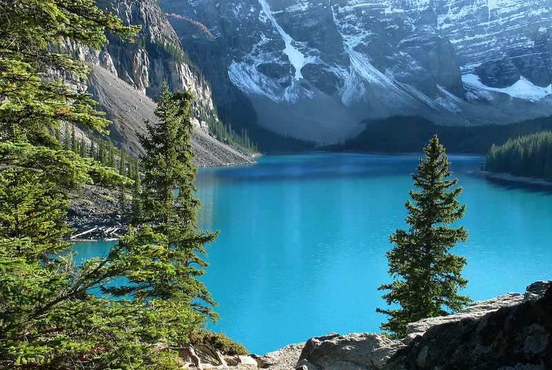 Moraine Lake in late afternoon<br /> Banff National Park, Alberta, Canada