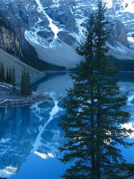 Moraine Lake in morning light<br /> Banff National Park, Alberta, Canada