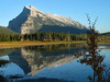 Mount Rundle reflected in Vermillion Lakes<br /> Banff National Park, Alberta, Canada
