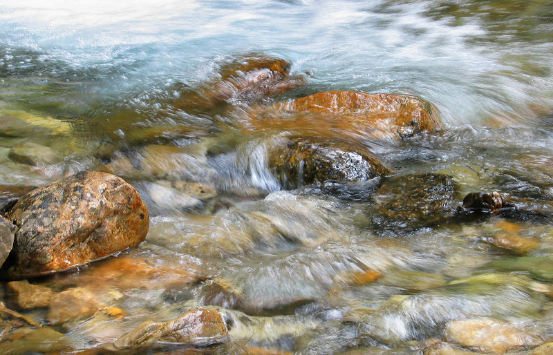 Silverton Creek below cascade<br /> Banff National Park, Alberta, Canada