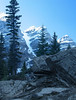 Moraine Lake rockpile trail<br /> Banff National Park, Alberta, Canada