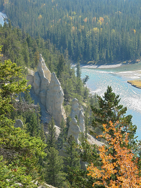 Hoodoos and Banff from Tunnel Mountain<br /> Banff Townsite, Alberta, Canada