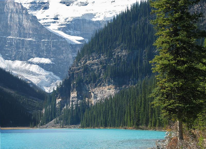 Mountains at Lake Louise<br /> Banff National Park, Alberta, Canada