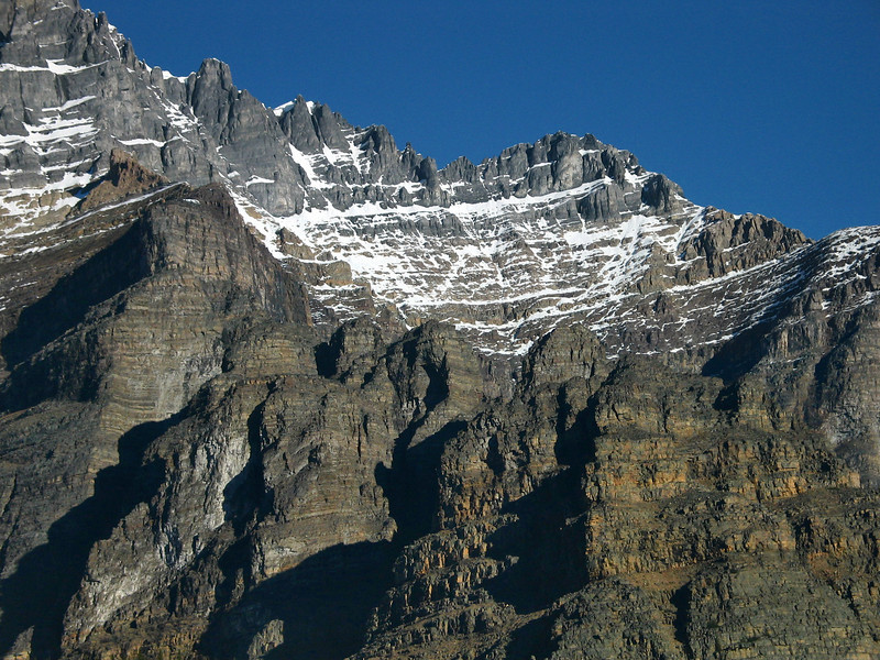 Peaks above Moraine Lake<br /> Banff National Park, Alberta, Canada