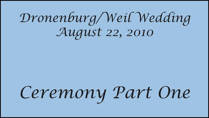 Wedding Ceremony Part 1