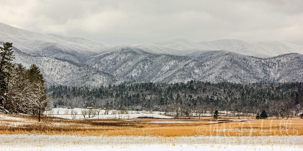 Winter At Cades Cove Panorama