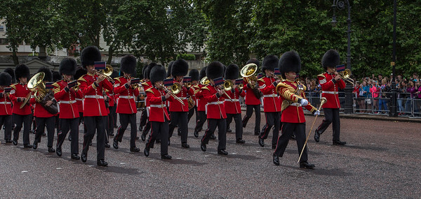 Changing of the guards,Buckingham Palace, London, England, June 28 2014