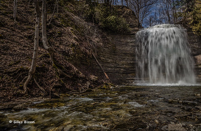 Cresses falls in Waupoos, Prince Edward County, April 12 2014,#6188, Canon 6D, 1/13 sec F20 ISO50,