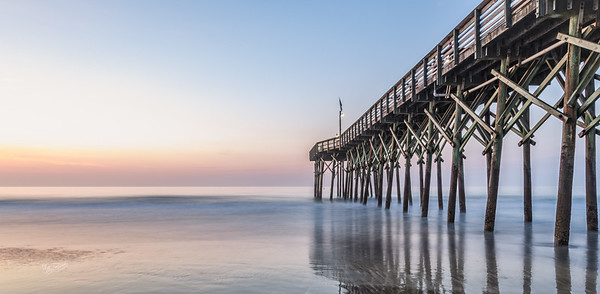 Sunrise at the Pier, Myrtle Beach,South Carolina, April 15, 2017, Canon 6D, 30 sec, F16, ISO 50
